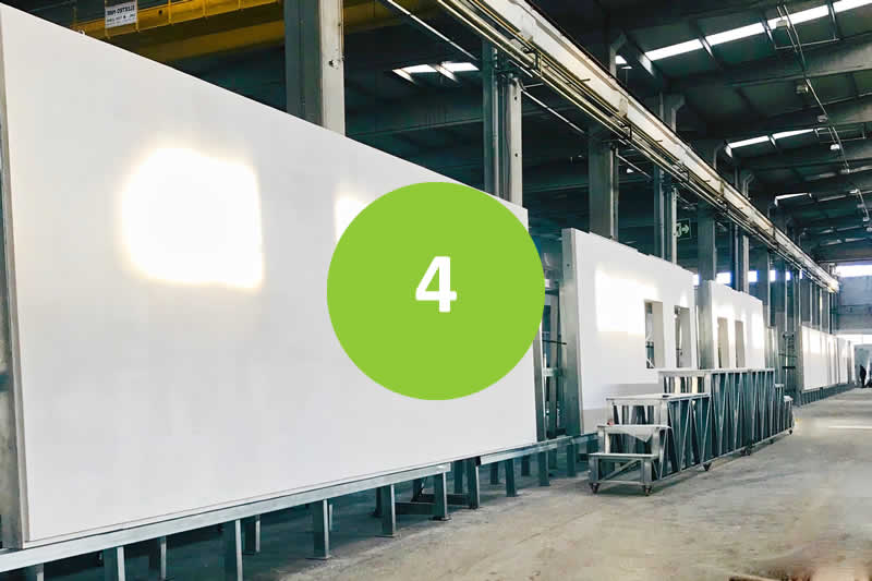 Prefabricated Buildings - Step 4 - Manufacturing process begins